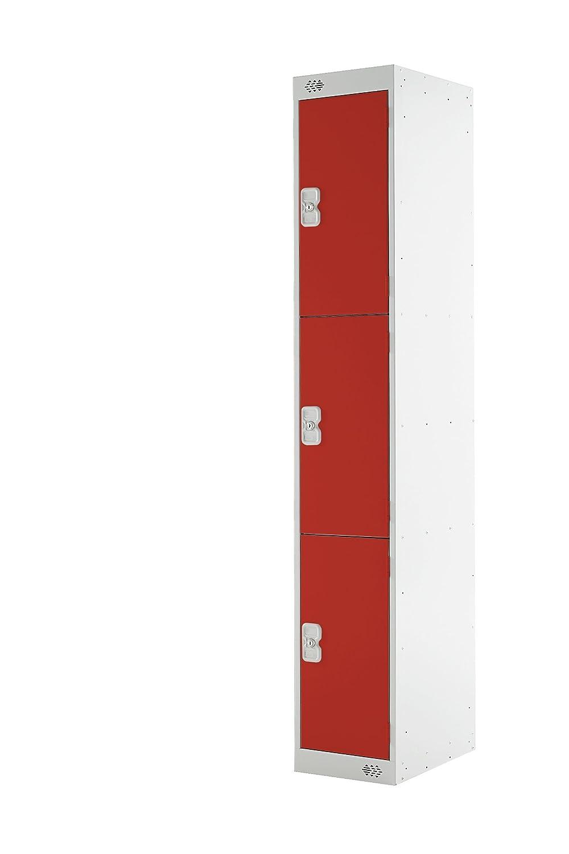 Moresecure M12513GUCF00MZ 1800 x 300 x 450 mm 3 Door Locker - Light Grey/Blue Whittan Industrial Ltd