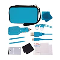 Nintendo 3DS 12-in-1 Travel Pack / Tasche: Aqua Blau