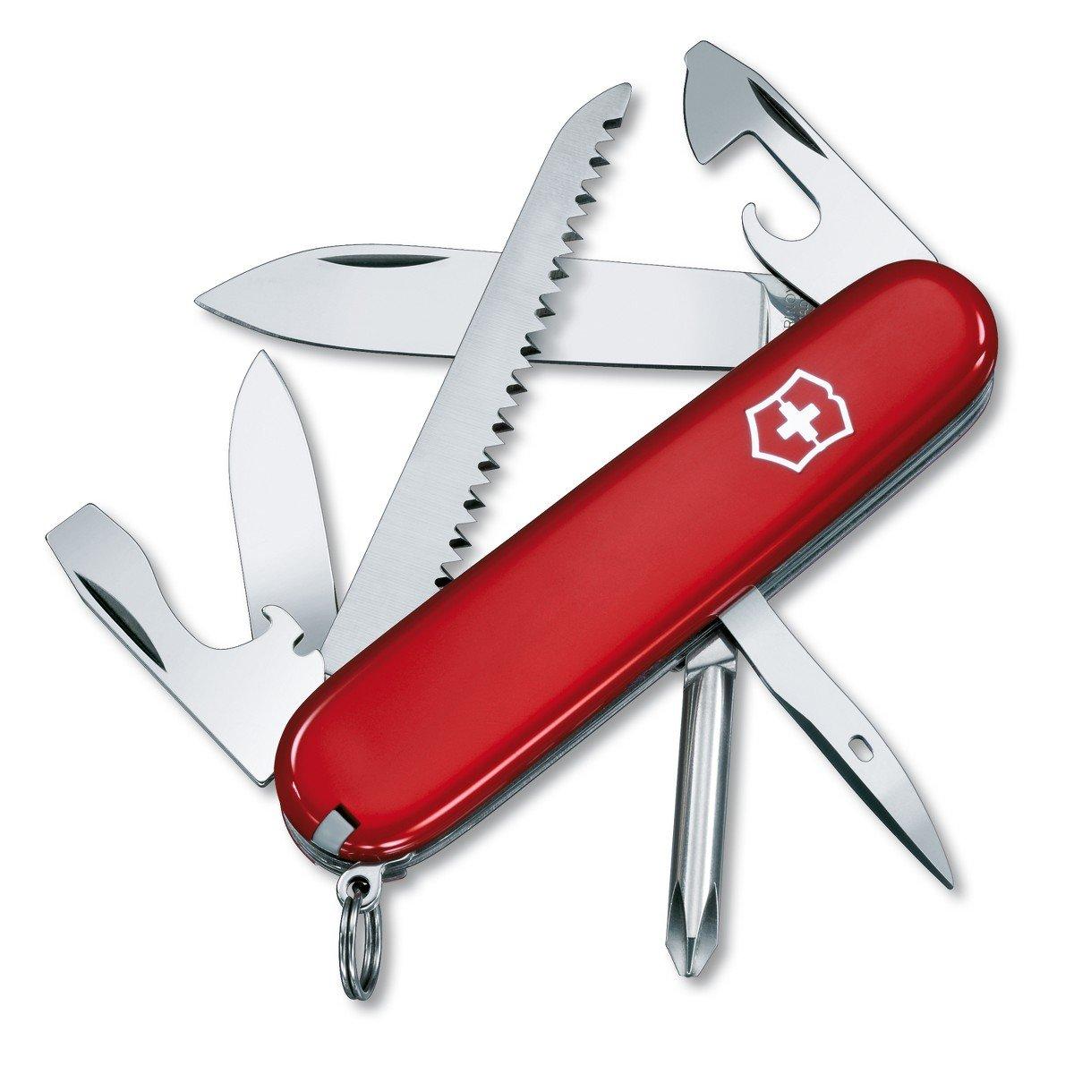 Victorinox Hiker - Cuchillo, Rojo, Acero inoxidable, 7 funciones 1461300