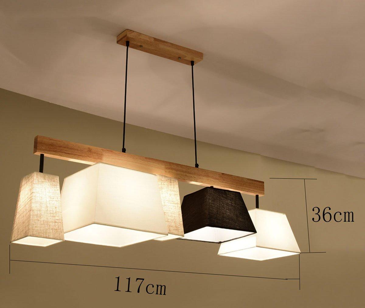 Holz Pendelleuchte Esstisch Deckenleuchte Wohnzimmer Lampe E27 Decke Kronleuchter Kronleuchter Kronleuchter (Farbe   3) 52d9e8