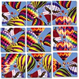B Dazzle Hot Air Balloons Scramble Squares 9 Piece Puzzle
