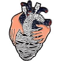 Zonfer Forma Collar Unisex Metal Broche del Corazón Cósmico Pin Accesorio para Capa De La Chaqueta De Vestir Decoración De La Joyería