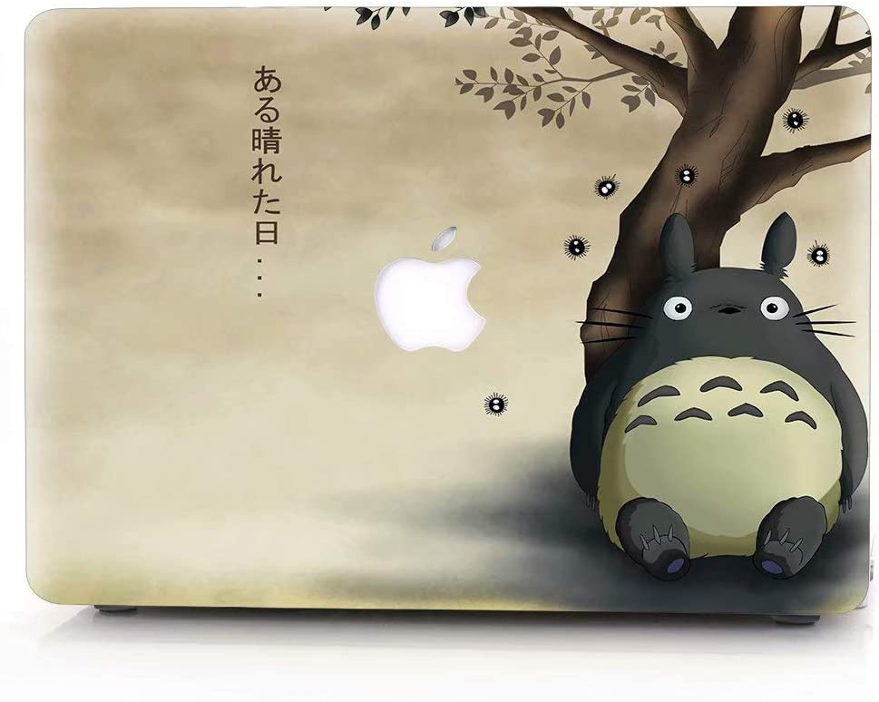 RQTX Hard case for MacBook, Anime Series Plastic Pattern Hard Case Shell Cover Only for MacBook Air 13 Inch (A1369 & A1466, Older Version 2010-2017 Release) - Totoro LRS328