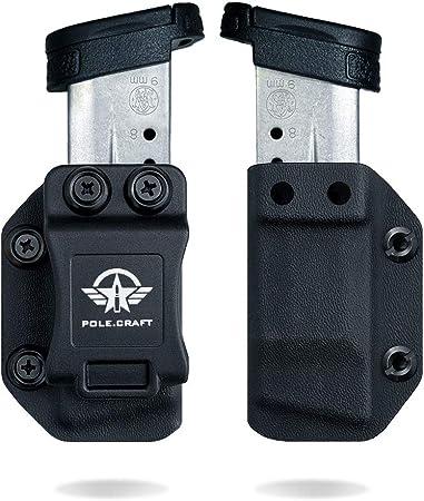 IWB/OWB Magazine Holster Kydex - Mag Carrier - for: 9mm .40 Double Stack Magazine / 9mm .40 Single Stack Magazine - P365 1911 Glock 19 19X 17 26 27 28 43 22 23 25 26 27 31 32 33 34 35 37 38 .. Mag