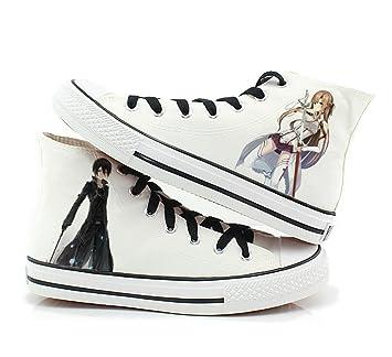 Sword Art Online Cosplay zapatos de Lienzo zapatillas zapatos blanco 2, Blanco: Amazon.es: Deportes y aire libre