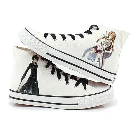 54acccbac28e Amazon.com: Telacos Sword Art Online Canvas Shoes Cosplay Shoes ...