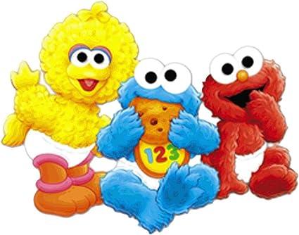 Marvelous Amazon Com Baby Sesame Street Big Bird Cookie Monster Elmo Edible Personalised Birthday Cards Sponlily Jamesorg