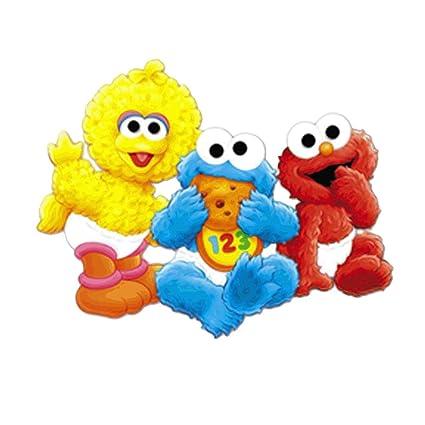 Baby Sesame Street Big Bird Cookie Monster Elmo Edible Cake Topper Frosting 1 4 Sheet Birthday Party Amazonin Toys Games