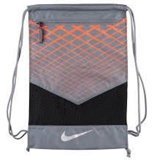 NIKE Vapor Energy Team Training Drawstring Gymsack Backpack 600 Denier  Sport Bookbag (Anthracite Wolf 5d0cf8bacc76e