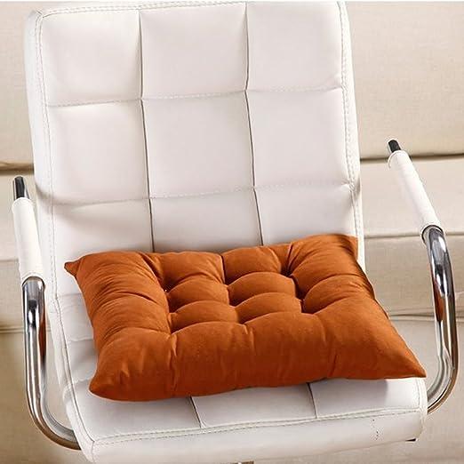 FAVOLOOK Cojín cuadrado sólido para asiento de silla con cordón para sofá de coche, oficina, tatami, decoración, 9 colores, café, Tamaño libre