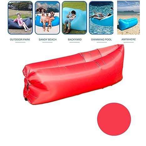 Tumbona hinchable con bolsa de transporte, tumbona de playa, sofá ...