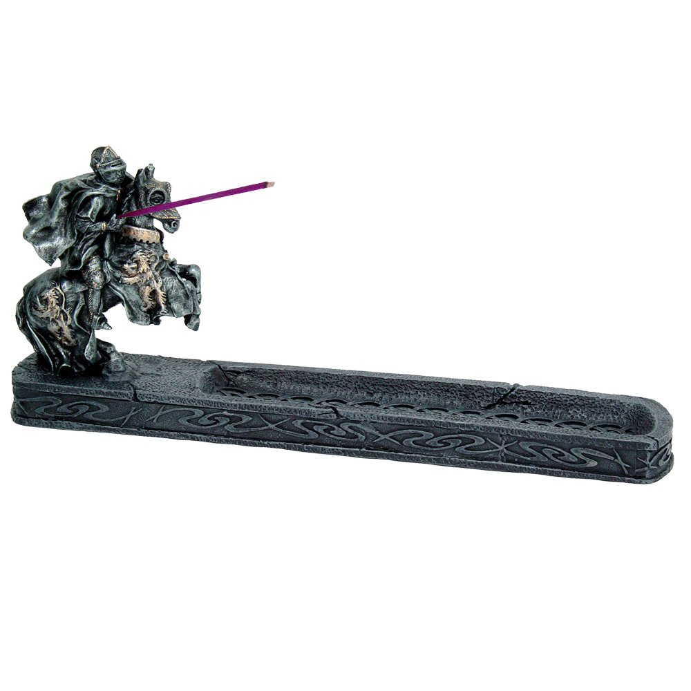 ナイトのChivalry Stick Incense Holder Jousting Knight Incense Burner Medieval Times Collectible 11.25インチL B078XMQYTK