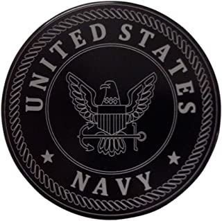 """product image for HMC Billet United States Navy Aluminum 5"""" Laser Engraved Trailer Hitch Cover"""