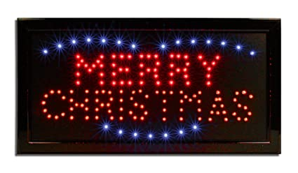 led neon lighted merry christmas sign 19 inch wide