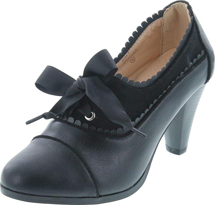 Oxford heels with a vintage retro look