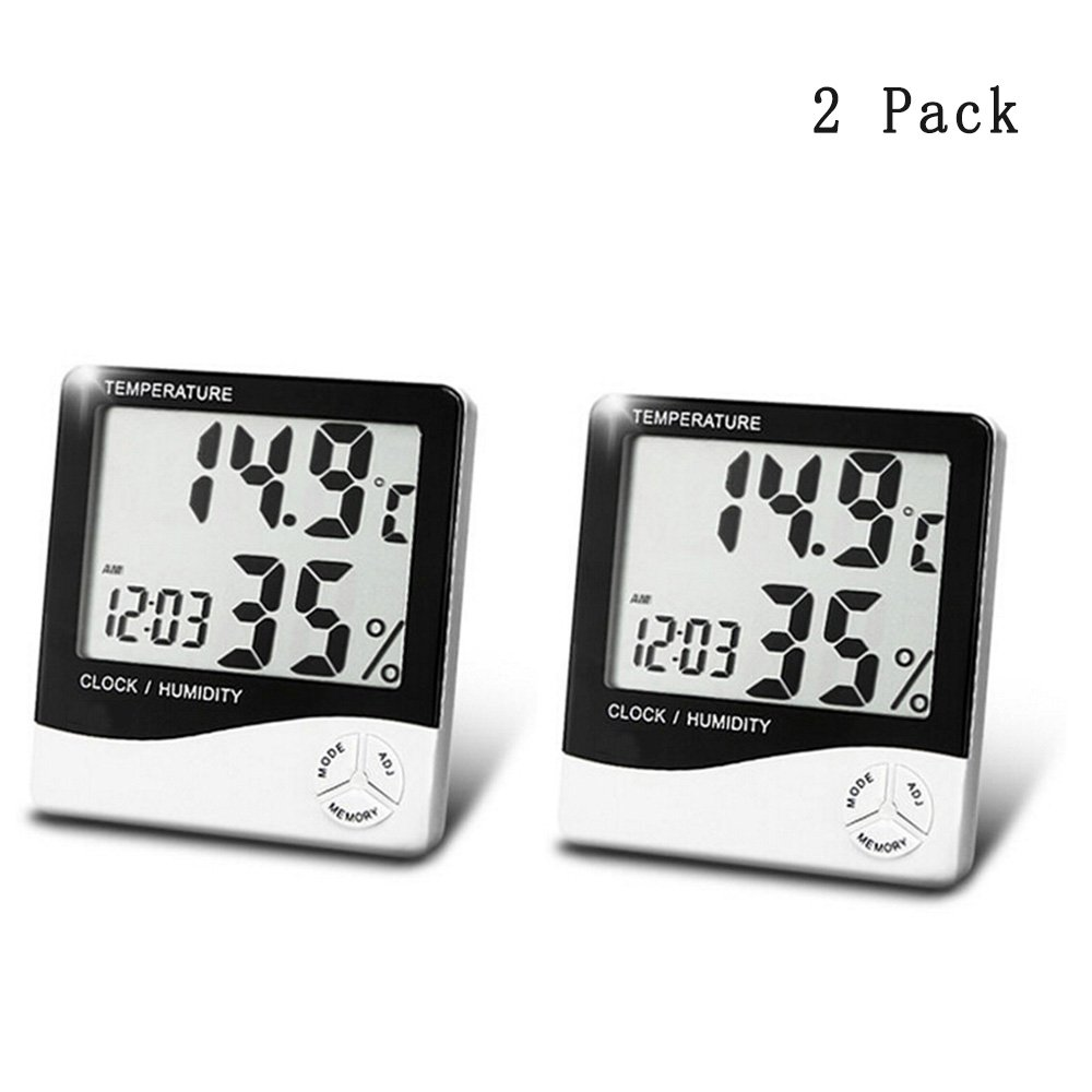 Accuracy Hygrometer Thermometer Indoor Humidity Monitor with Temperature Gauge Humidity Meter, Room Thermometer Fahrenheit Or Celsius- 2 pack