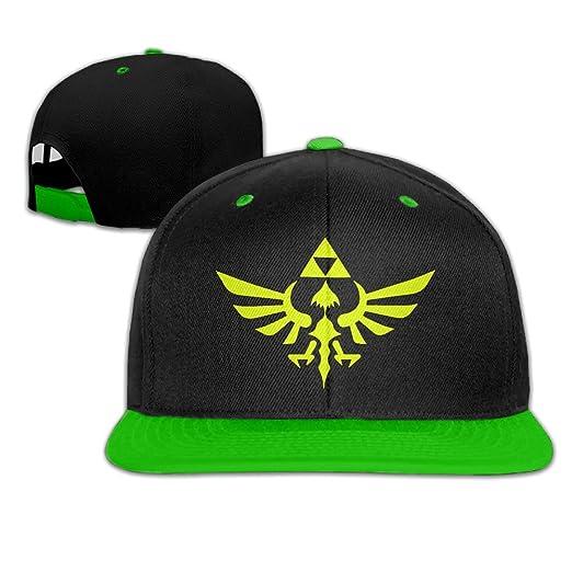 Zelda Triumphant Triforce Adjustable Hip Pop Flat Bill Hat -5 Colors ... 65e05e0121e