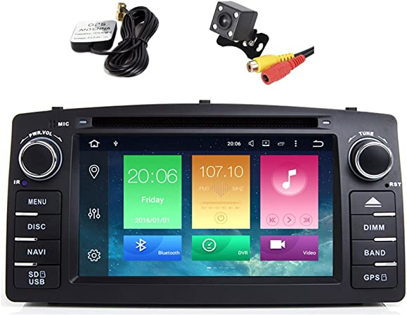 Toopai Android 8 0 Car Radio For Toyota Corolla E120 2 Din 7 Inch 18 Cm Touchscreen Monitor With Gps Navigation And Multimedia Navigation Car Hifi
