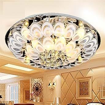 Moda tetas clásico de Crystal Light Led luces de techo ...