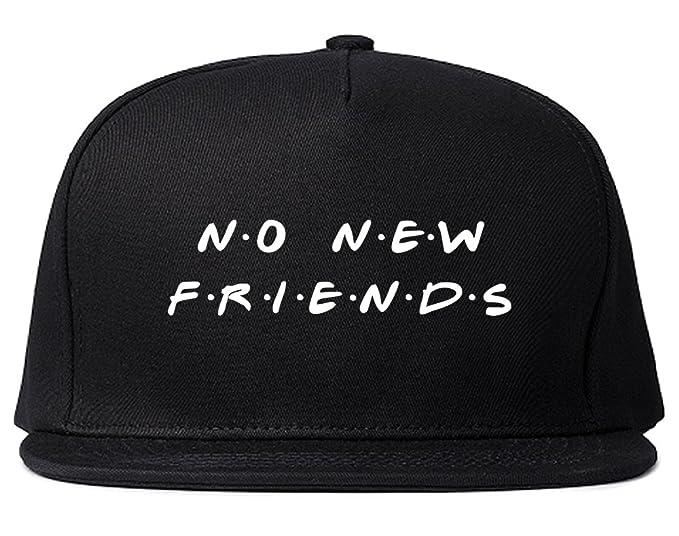 8990ba932de No New Friends Snapback Hat Cap Black at Amazon Men s Clothing store