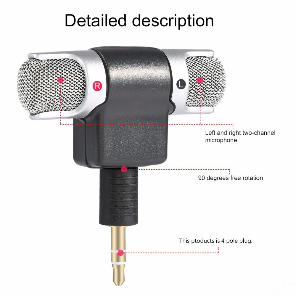 ZYSWS Portable mini microphone for phone Recordings for YouTube iphone 8 microphone(4 poles) by ZYSWS