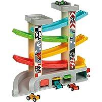 WOOMAX- Circuito pista con garaje y coches (Colorbaby