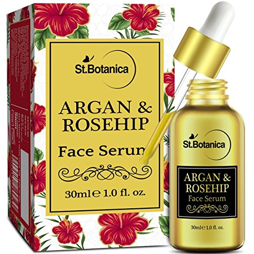 StBotanica Argan & Rosehip Face Serum - 30ml - For Anti Aging & Anti Wrinkle (Best Serum For Combination Skin In India)