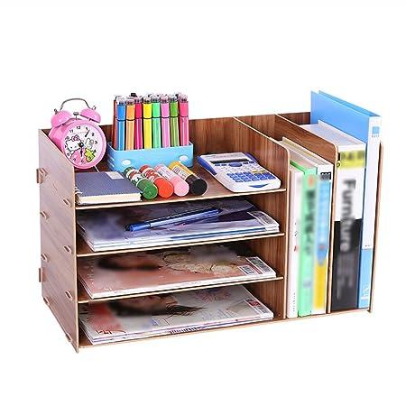 QFFL zhuomianshujia Caja de almacenamiento de escritorio Estante ...