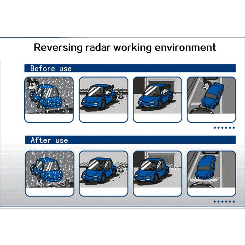 Precauti Sistema di retromarcia di retromarcia di Sicurezza per Auto Sistema di Allarme di Sicurezza 4 Sensori di parcheggio Kit di monitoraggio del Tono di avviso con Display a LED