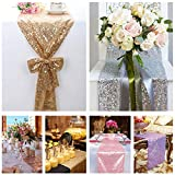 B-COOL Sequin Table Runner 12x72inch Pink