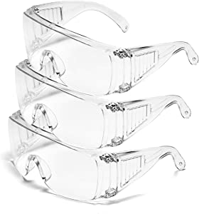 Protective Safety Goggle Glasses, Anti-Fog Clear Goggles Against Liquid Splash, Eye Protection For Home & Workplace