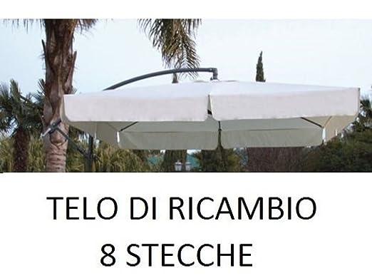 Pezzi Di Ricambio Ombrelloni.Megashopitalia Top Telo Di Ricambio Per Ombrellone Decentrato In