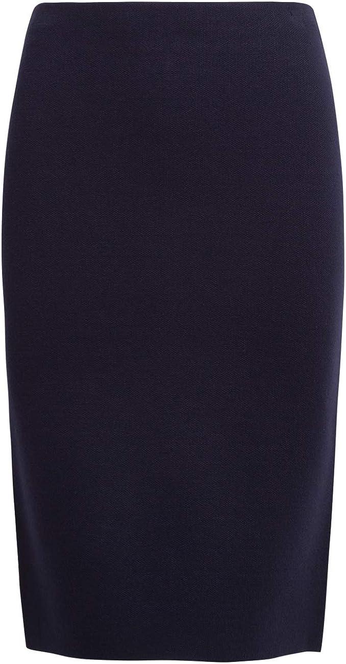 APART Damen Bleistiftrock aus Milano-Strick Nachtblau