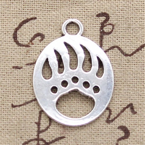 (10pcs Charms Bear paw 30x22mm Antique Making Vintage Tibetan Silver Zinc Alloy Pendant)
