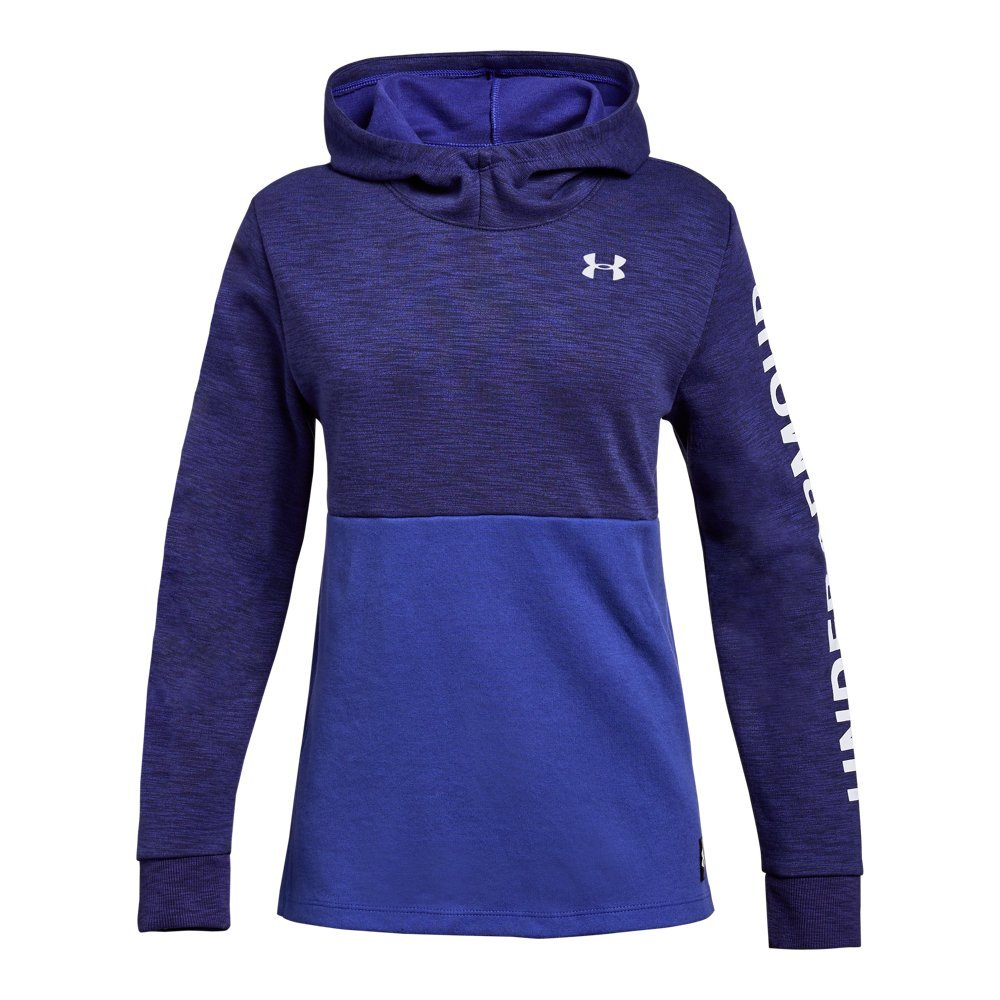 Under Armour Girls Double Knit Hoodie, Constellation Purple (530), Youth Medium