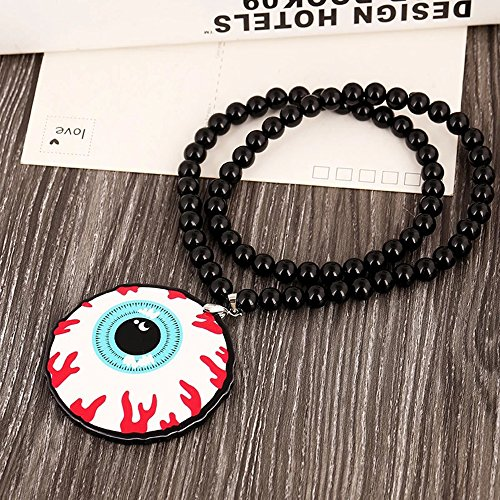 - INEBIZ Hip Hop Funny Horrible Eyeball Rearview Mirror Hanging Charm Dangling Beaded Acrylic Double Sided Pendant for Car Decoration (eye)