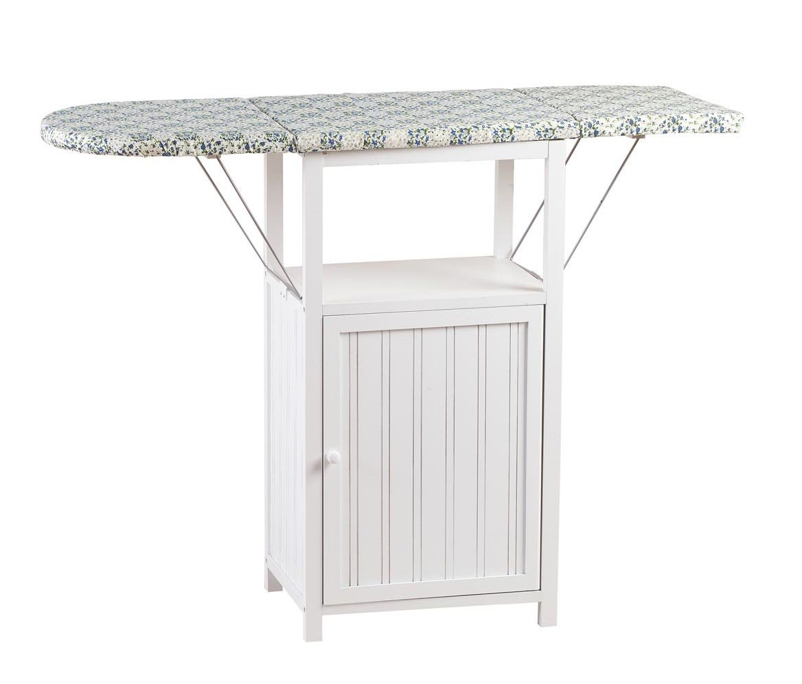 Miles Kimball Deluxe Ironing Board with Storage Cabinet by Oakridge, White