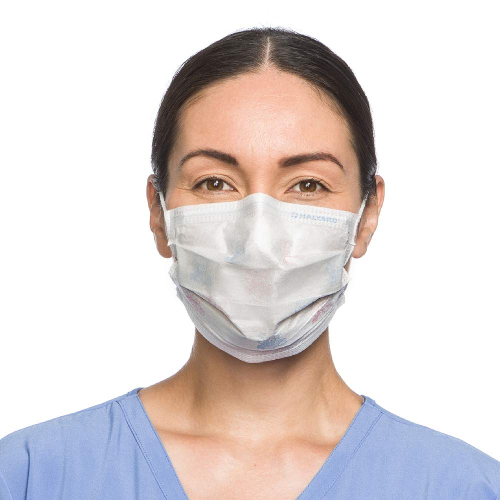 Halyard Health 47295 Health Care Teddy Bear Procedure Face Mask with Earloops (Case of 500) by Halyard Health