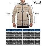 Yozai Mens Lightweight Fall Jacket Windbreaker with