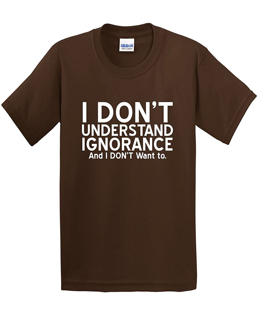 20fe43ffe Amazon.com: Feelin Good Tees Understand Ignorance Sarcastic Humor Novelty  Graphic Funny T Shirt: Clothing