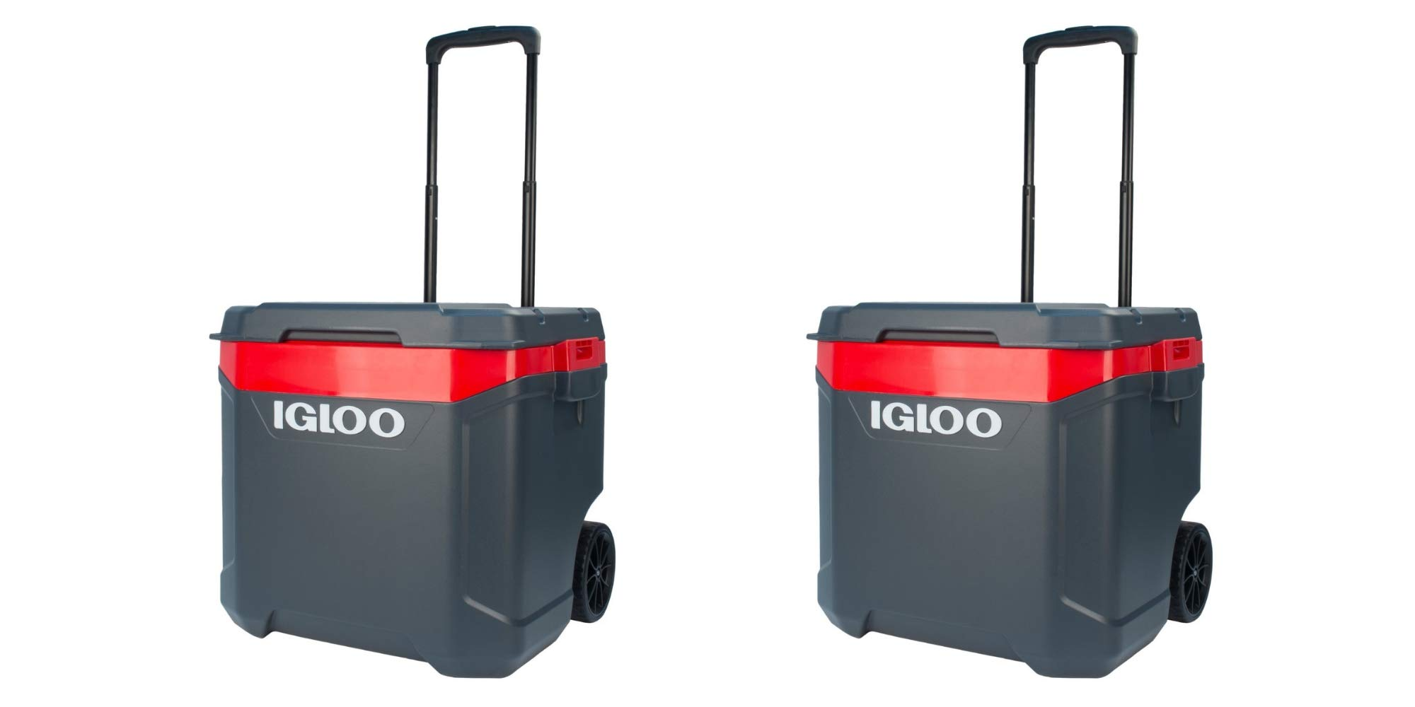 Latitude Roller 60-Quart Cooler-Gray/Red(Pack of 2)