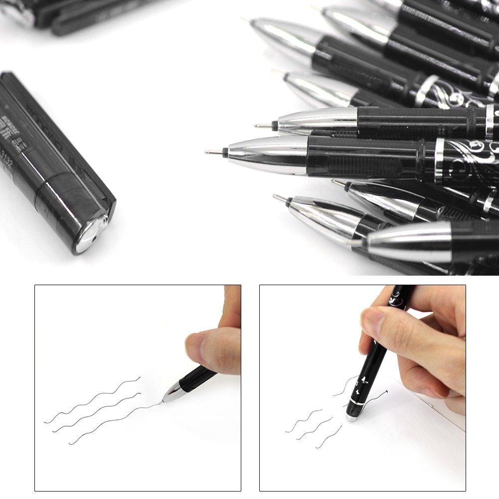 caja de 10 papeler/ía de escritorio Recambio para bol/ígrafo de gel Tinaa tinta negra tinta azul color Negro Taille unique