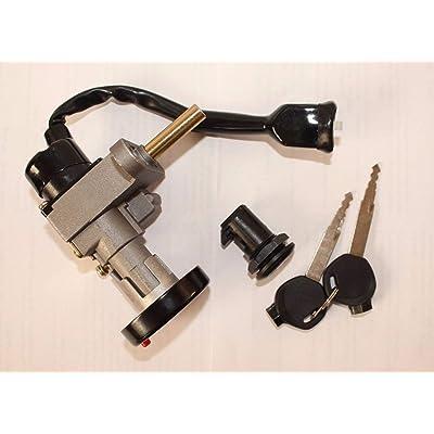 Scooter Key Ignition Switch Set Lock Yamaha Aerox Zuma 100cc 125cc ATV Jonway : Sports & Outdoors