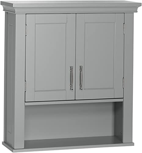 RiverRidge Somerset Collection Two-Door Wall Cabinet, Gray