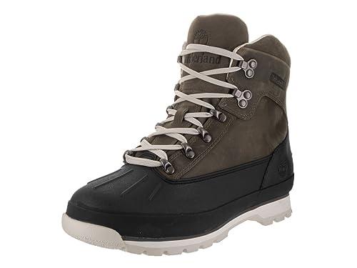 bf6e58fda46 Timberland Euro Hiker Shell Toe WP Mens Black Leather Hiking Lace Up ...