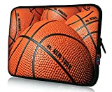 iColor 13' Laptop Sleeve Bag 12.5' 13.1' 13.3' inch Notebook Tablet Computer PC Neoprene Protection Case Sleeve Cover Pouch Holder for Apple Macbook Lenovo HP Dell-Basketball