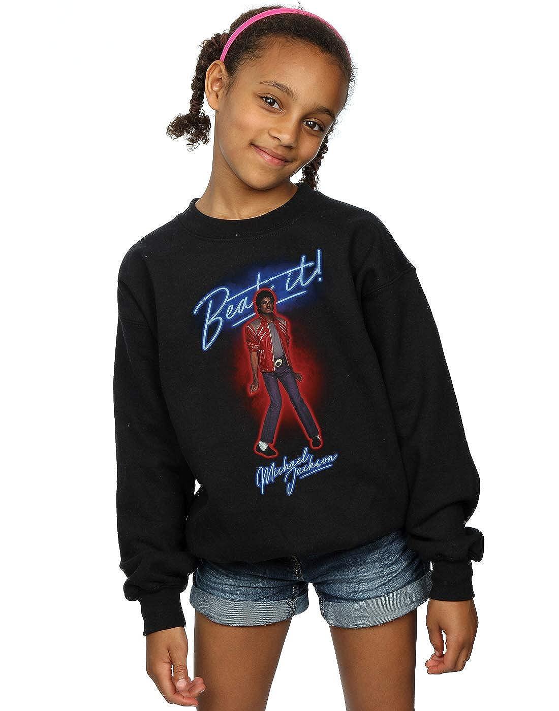 Absolute Cult Michael Jackson M/ädchen Beat It Smoke Sweatshirt