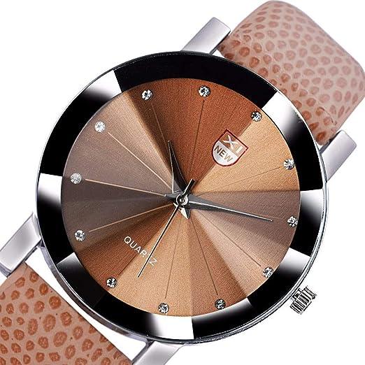 Modaworld Relojes Hombre Reloj de Cuarzo de Acero Inoxidable para Hombres Banda de Cuero Deportivo Militar dial Reloj de Pulsera Relojes Hombre Deportivos: ...