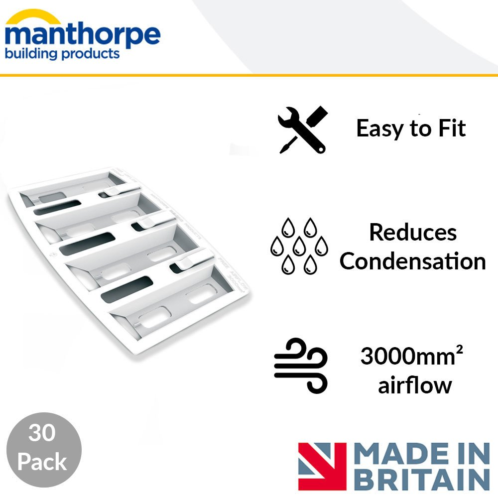 30 Pack Manthorpe Felt Lap Vents Cures Condensation Attic//Roof//Loft Ventilation
