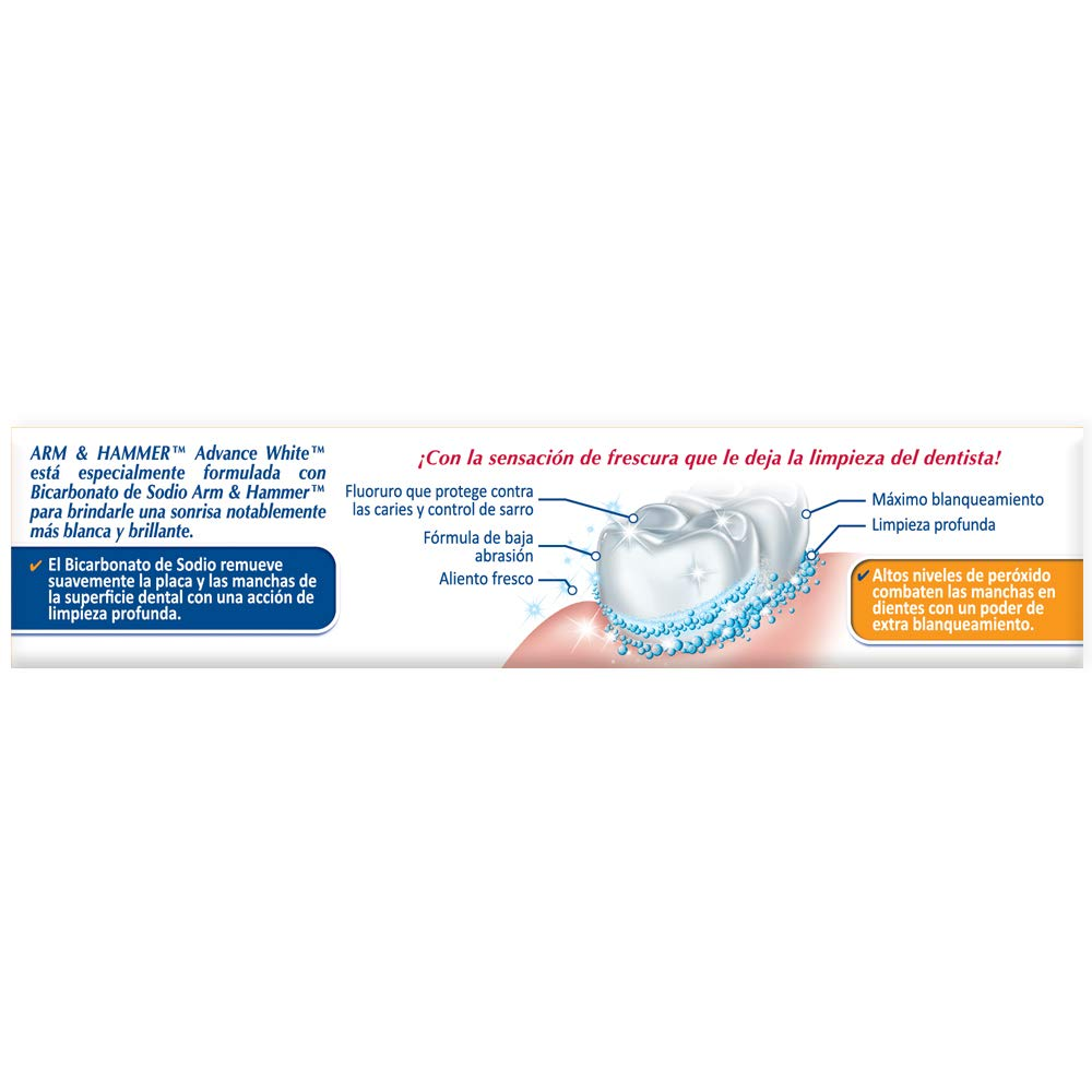 Arm & Hammer Advance White Extreme Whitening Toothpaste, 4 3 oz (Pack of 6)